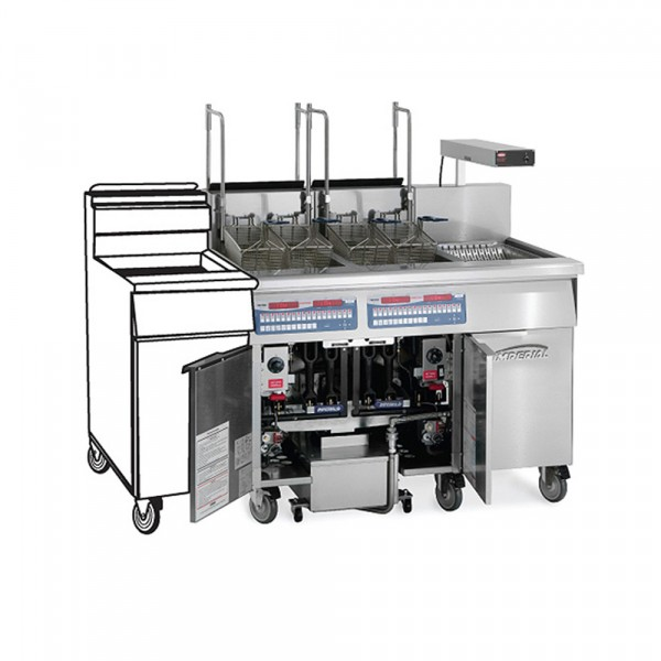 3 Fryer -Gas Tube Fired Fryer-Filter Systems Drain Station Pre-Packaged