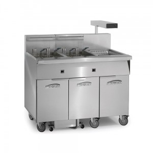 Electric 2 Fryer Filter Systems Drain Station Pre-Packaged