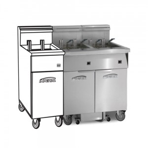 Electric 3 Fryer Filter Systems Space Saver Pre-Packaged