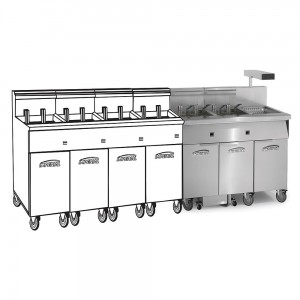 Electric 6 Fryer Filter Systems Drain Station Pre-Packaged