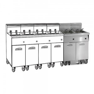 Electric 6 Fryer Filter Systems Space Saver Pre-Packaged