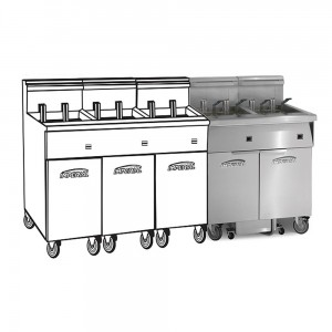 Electric Fryer 5 Filter Systems Space Saver Pre-Packaged