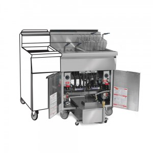 Gas Tube Fired Fryer- Filter Systems Space Saver-3Fryer-Pre-Packaged
