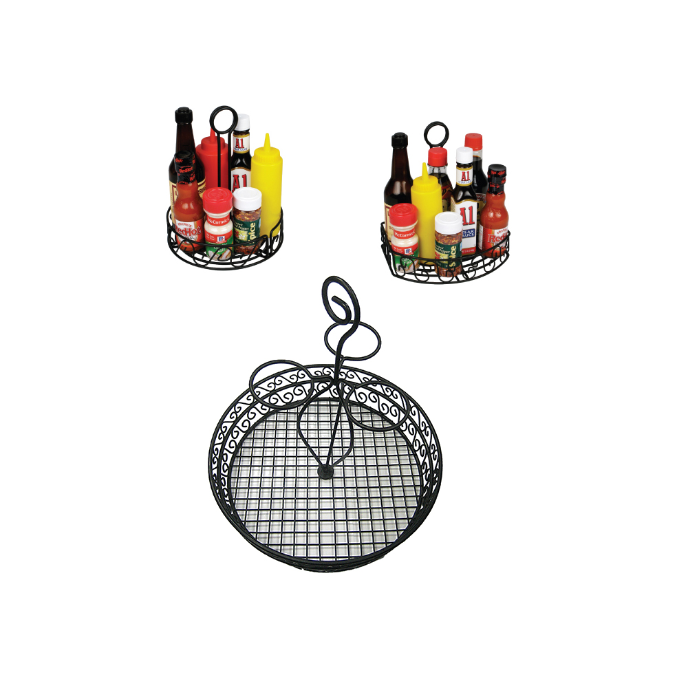 Black Wire Caddie Condiment Holder Tabletop Winco Trenton China - Table top caddies for restaurants