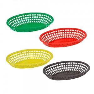Premium Plastic Oval Baskets