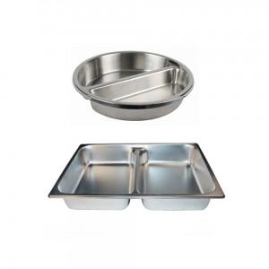 divided food pan