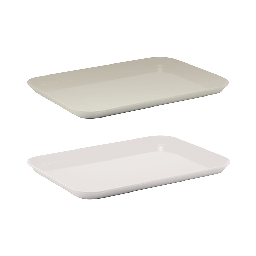 Delightful Fiberglass Rectangular Dining Trays: Winco