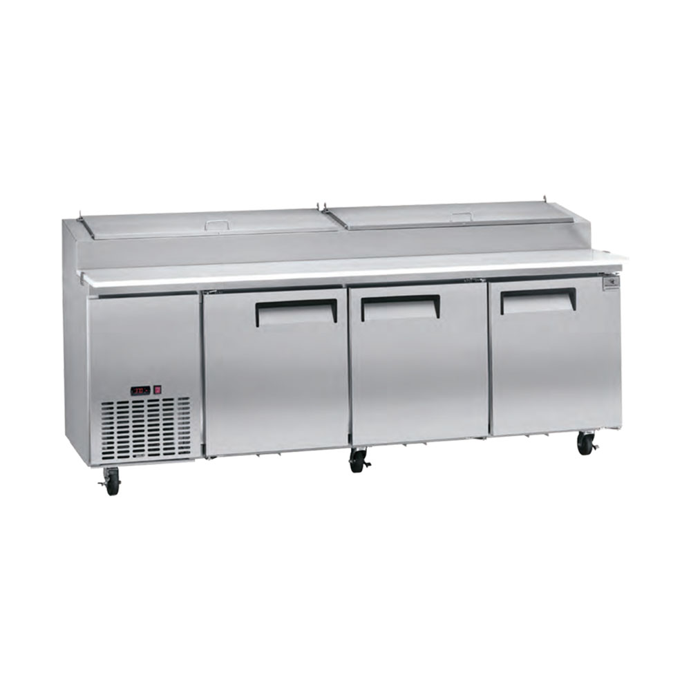 CU FT PIZZA PREP TABLE KELVINATOR Trenton China Restaurant - Restaurant supply prep table